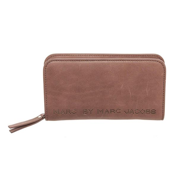Marc By Marc Jacobs Brown Leather Zippy Wallet