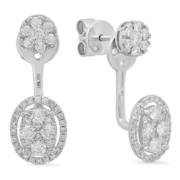 14k Gold 0.99CTW Diamond Earrings, (SI1-SI2)