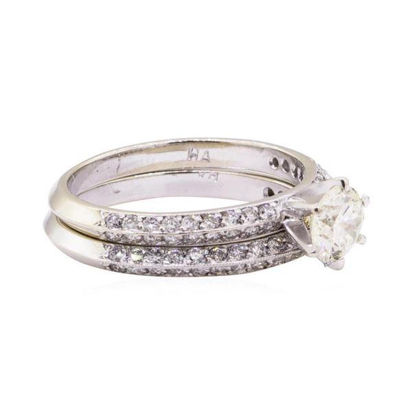1.38 ctw Diamond Ring & Wedding Band - 14KT White Gold