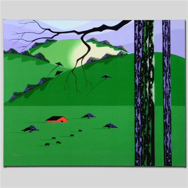 """""""Cows Come Home"""" Limited Edition Giclee on Canvas by Larissa Holt, Numbered and"""