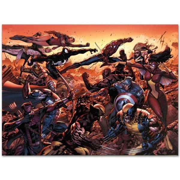 "Marvel Comics ""New Avengers #50"" Numbered Limited Edition Giclee on Canvas by Bi"