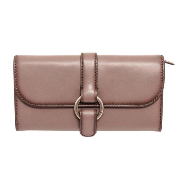 Michael Kors Grey Quincy Leather Flap Wallet