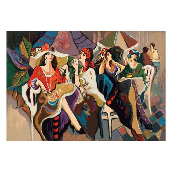 """Isaac Maimon, """"Cafe Parasol"""" Limited Edition Serigraph, Numbered and Hand Signed"""