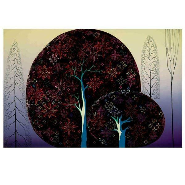"Eyvind Earle (1916-2000), ""A Tree Poem"" Limited Edition Serigraph on Paper; Numb"