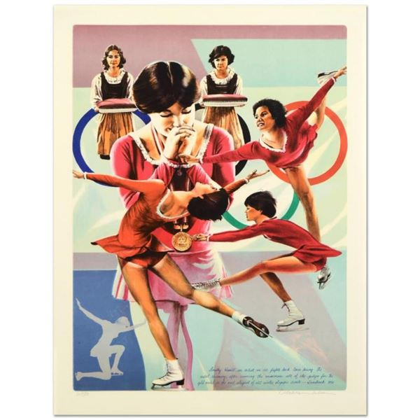 """William Nelson, """"Dorothy Hamill"""" Limited Edition Lithograph, Numbered and Hand S"""