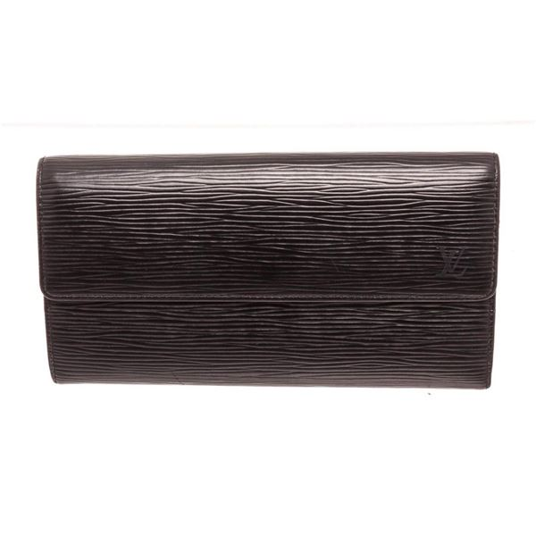 Louis Vuitton Black Epi Leather Sarah Wallet