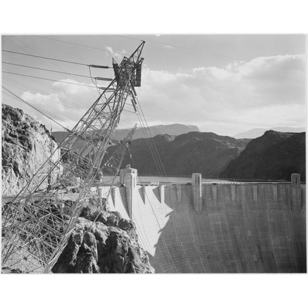Adams - Boulder Dam from the Top