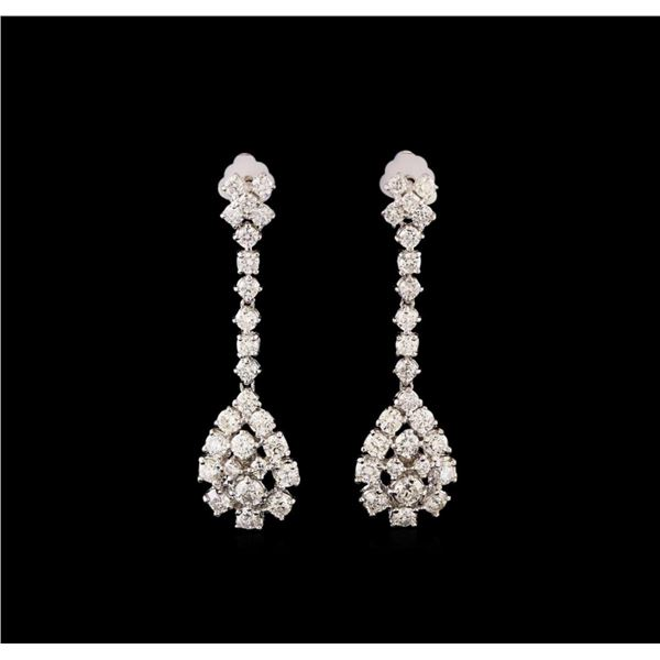 14KT White Gold 2.61 ctw Diamond Earrings