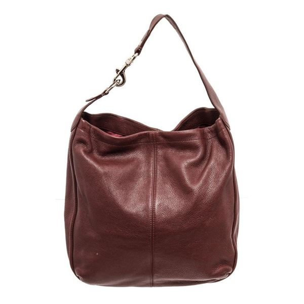 Coach Maroon Avery Leather Hobo Shoulder Bag