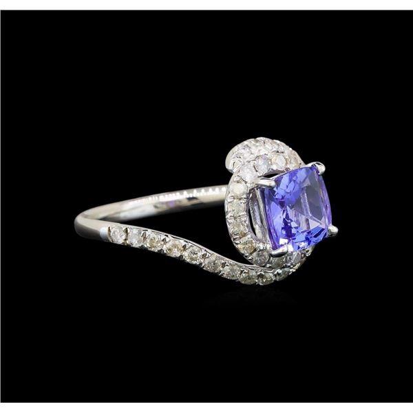 14KT White Gold 1.41 ctw Tanzanite and Diamond Ring