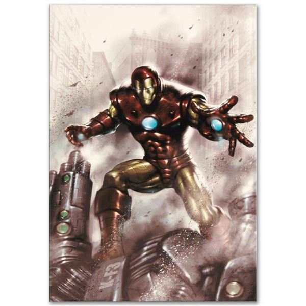 """Marvel Comics """"Indomitable Iron Man #1"""" Numbered Limited Edition Giclee on Canva"""