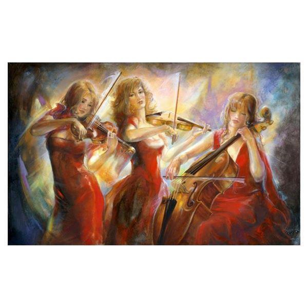 """Lena Sotskova, """"Concert"""" Hand Signed, Artist Embellished Limited Edition Giclee"""