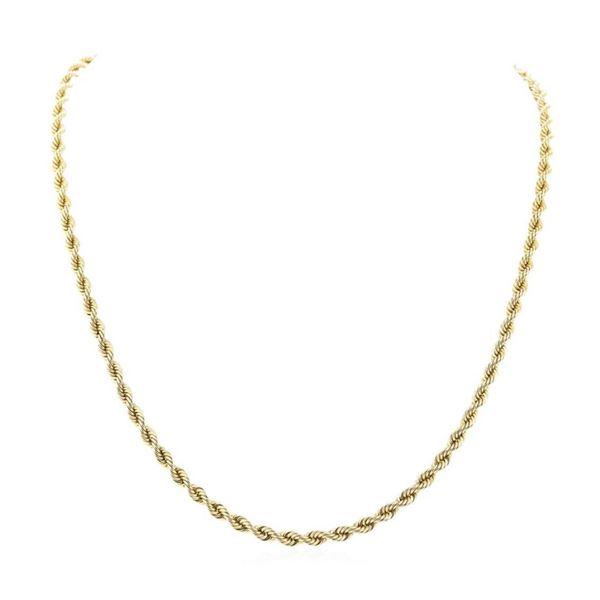 Twenty Four Inch Rope Chain - 14KT Yellow Gold