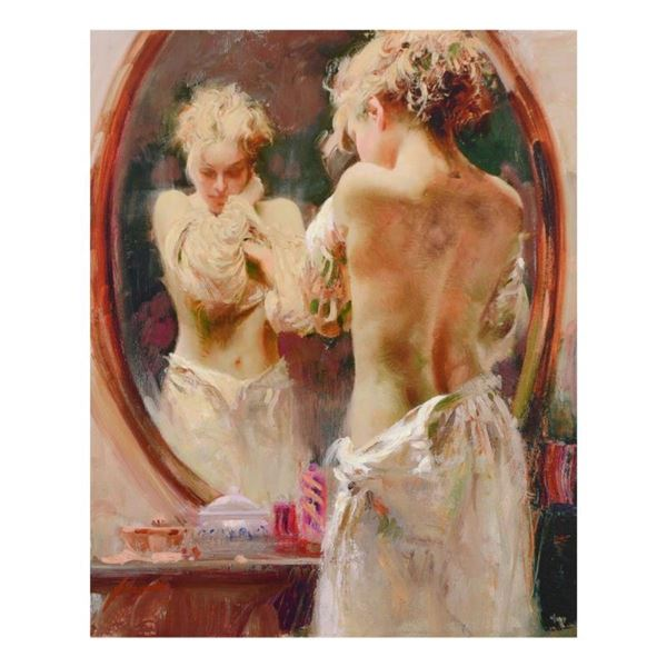 """Pino (1939-2010), """"Contemplation"""" Limited Edition Artist-Embellished Giclee on C"""
