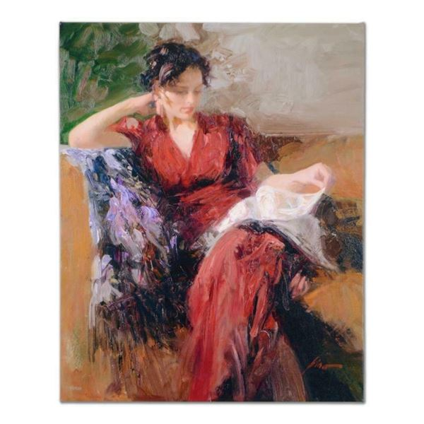 "Pino (1939-2010), ""Resting Time"" Artist Embellished Limited Edition on Canvas, A"