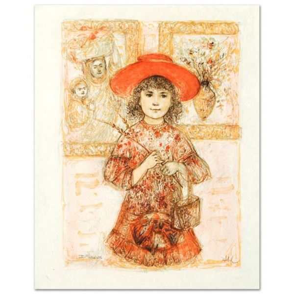 """Wendy the Youngest Docent"" Limited Edition Lithograph by Edna Hibel (1917-2014)"