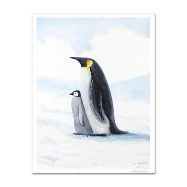 """Antarctic Penguins"" Limited Edition Giclee on Canvas by Renowned Artist Wyland,"