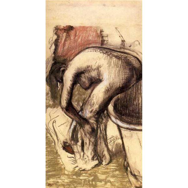 Edgar Degas - Female On The Tub Edge, Her Legs Drying #1