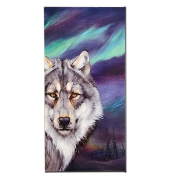 """""""Wolf Lights"""" Limited Edition Giclee on Canvas by Martin Katon, Numbered and Han"""