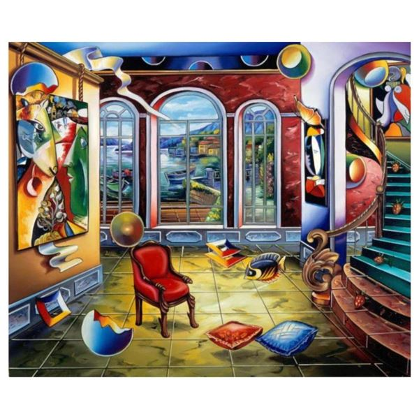 """Alexander Astahov, """"Master in Time"""" Hand Signed Limited Edition Giclee on Canvas"""