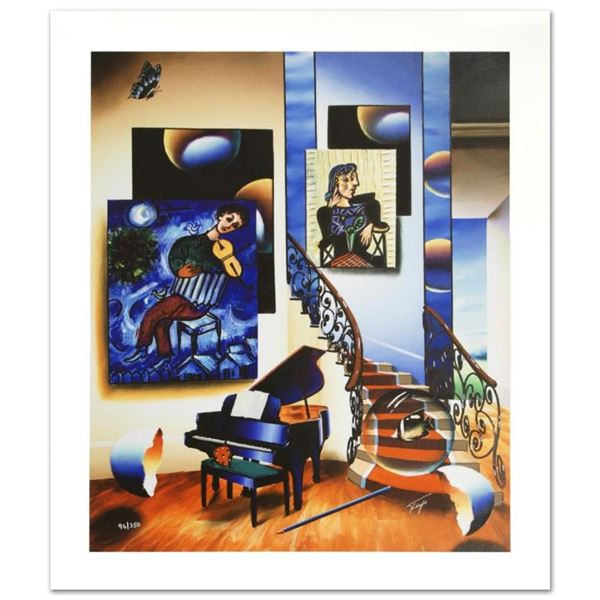 """Fiddler"" Limited Edition Giclee on Canvas by Ferjo, Numbered and Hand Signed by"