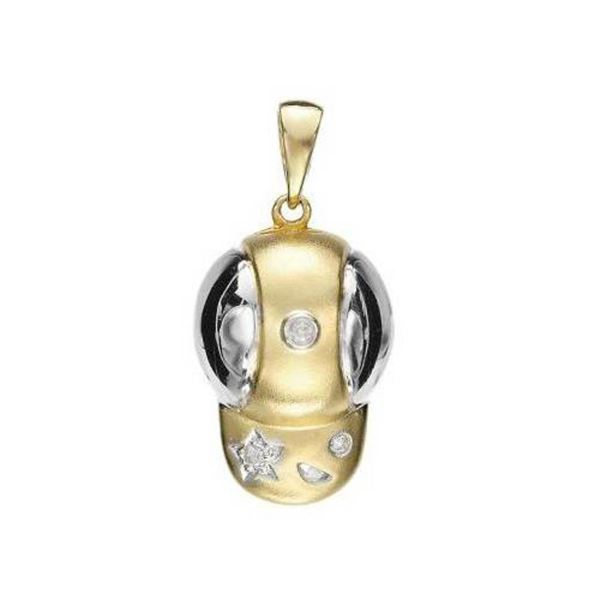 14k Yellow Gold 0.03CTW Diamond Pendant, (SI1-SI2/K-L)