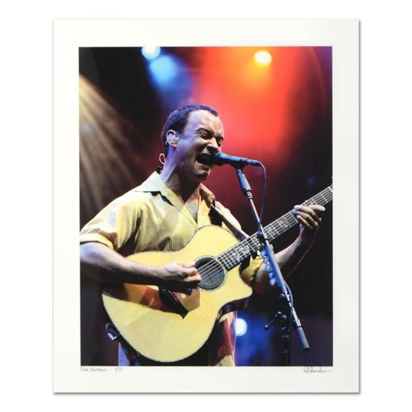 "Rob Shanahan, ""Dave Matthews"" Hand Signed Limited Edition Giclee with Certificat"
