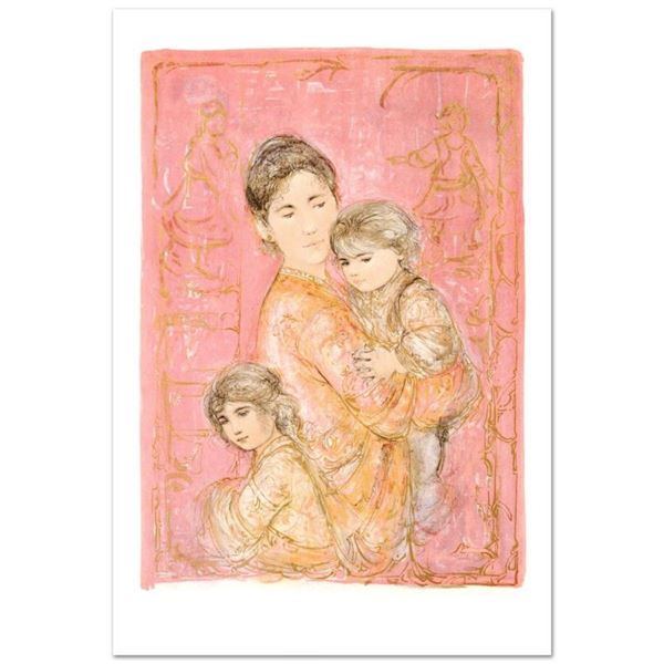 """Sonya and Family"" Limited Edition Lithograph by Edna Hibel (1917-2014), Numbere"