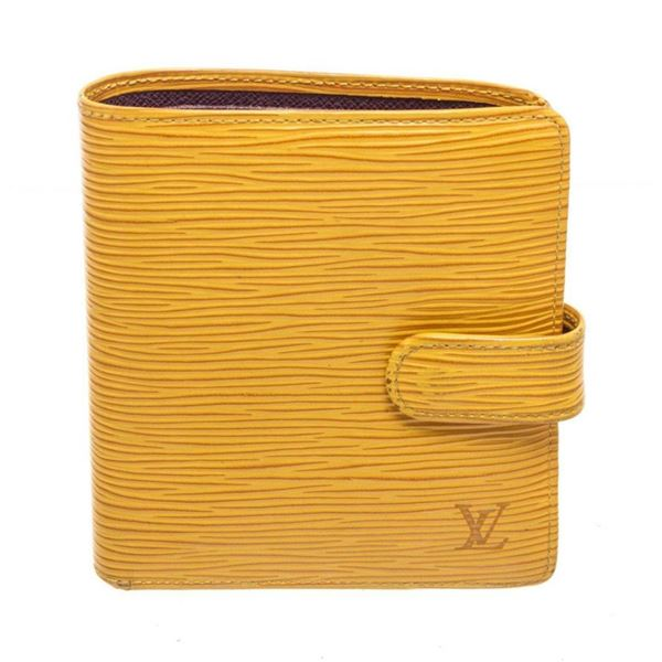 Louis Vuitton Yellow Porte Billets Compact Wallet