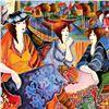 "Image 2 : Patricia Govezensky, ""Port Cafe Friends"" Hand Signed Limited Edition Serigraph w"