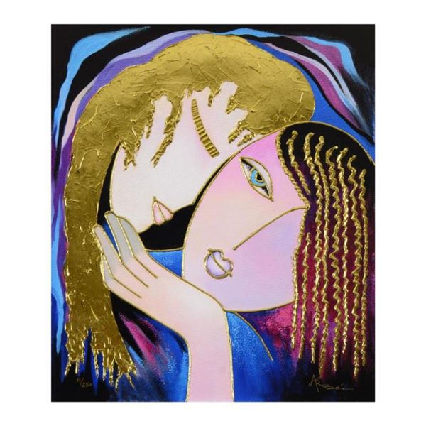 """Arbe, """"Little Sister"""" Limited Edition on Canvas with Gold Embellishing, Numbered"""