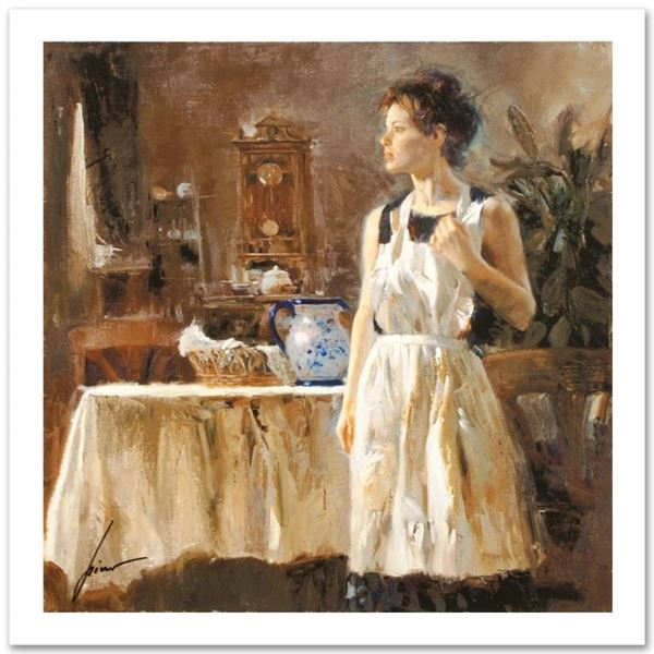 """Pino (1931-2010), """"Sunday Chores"""" Limited Edition on Canvas, Numbered and Hand S"""