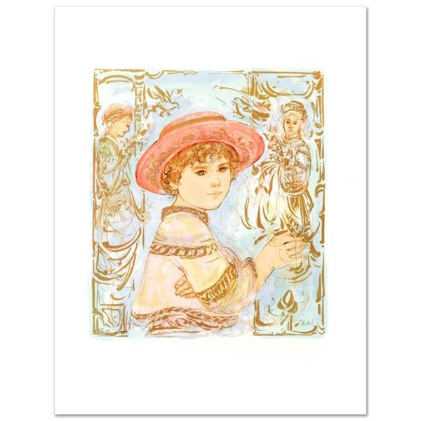 """""""Todd"""" Limited Edition Lithograph by Edna Hibel (1917-2014), Numbered and Hand S"""