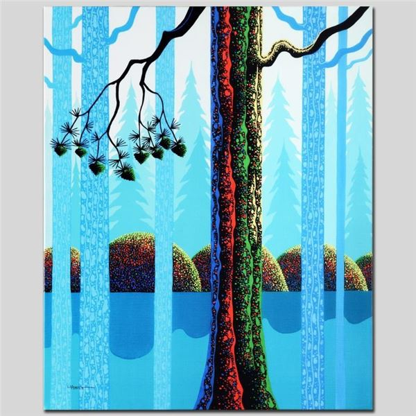 """""""Blue Neon"""" Limited Edition Giclee on Canvas by Larissa Holt, Numbered and Signe"""