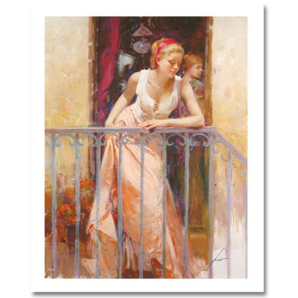 """Pino (1939-2010) """"At the Balcony"""" Limited Edition Giclee. Numbered and Hand Sign"""