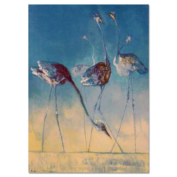"Edwin Salomon, ""Blue Birds"" Hand Signed Limited Edition Serigraph with Letter of"