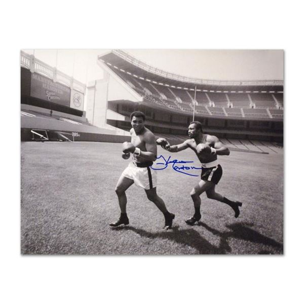 "Must-Have Signed Sports Photo. ""Ken Norton and Ali, Yankee Stadium"" 40"" x 30"" Ha"