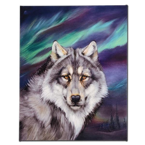 """""""Wolf Lights II"""" Limited Edition Giclee on Canvas by Martin Katon, Numbered and"""