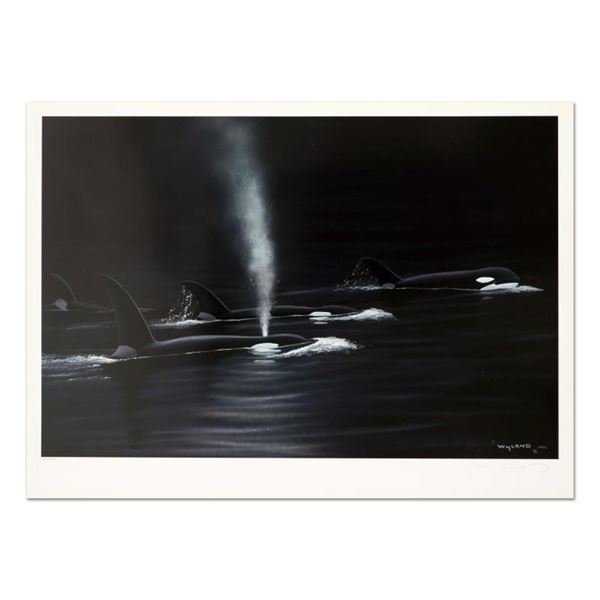 """Wyland, """"Ancient Orca Seas"""" Limited Edition Lithograph, Numbered and Hand Signed"""