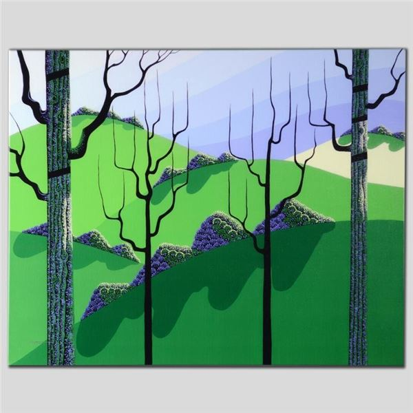 """""""Over Hills"""" Limited Edition Giclee on Canvas by Larissa Holt, Numbered and Sign"""