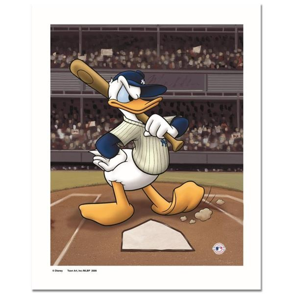 """""""Donald at the Plate (Yankees)"""" Numbered Limited Edition Giclee licensed by Disn"""