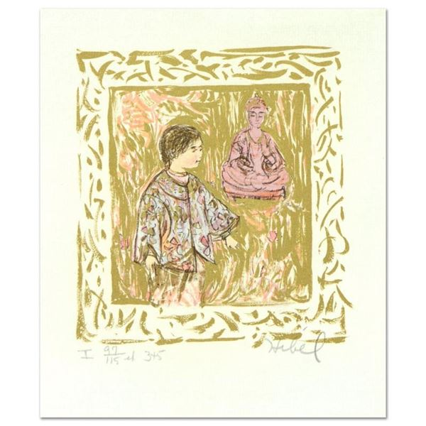 """Edna Hibel (1917-2014), """"Temple Visit"""" Limited Edition Lithograph with Remarque,"""