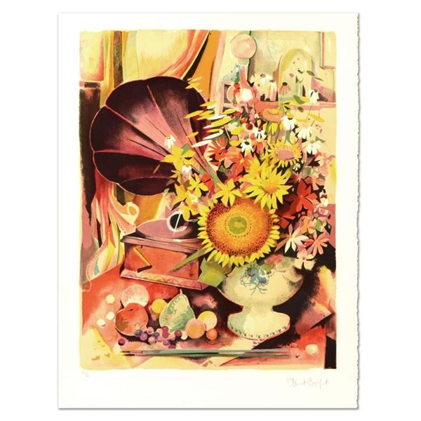 "Robert Vernet Bonfort, ""Bouquet"" Limited Edition Lithograph, Numbered and Hand S"