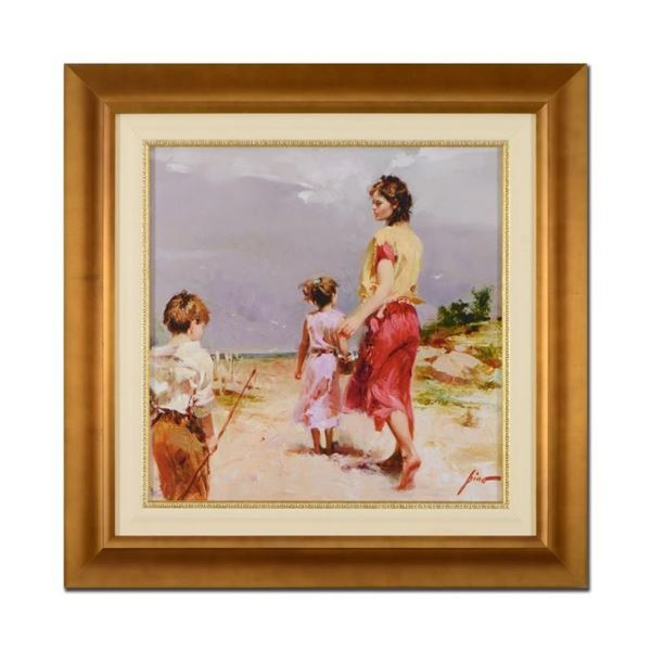 "Pino (1939-2010), ""Going Fishing"" Framed Limited Edition Artist-Embellished Gicl"