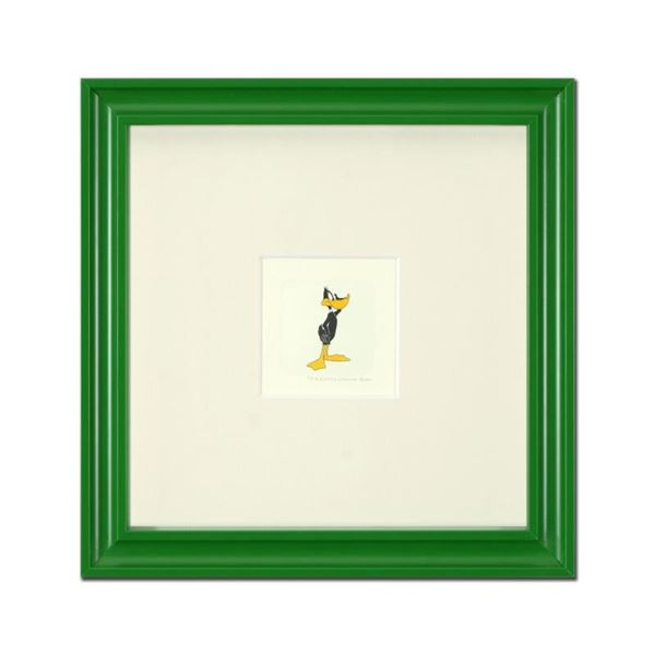 """Daffy Duck (Looking to the Side)"" Framed Limited Edition Etching with Hand-Tint"