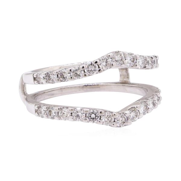 0.90 ctw Diamond Ring Guard - 14KT White Gold