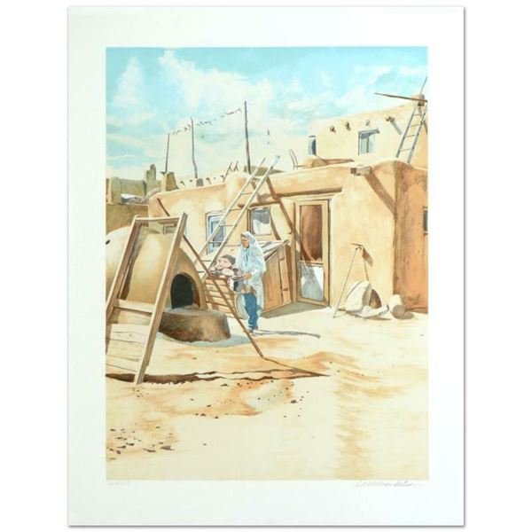 """William Nelson, """"Adobe Man"""" Limited Edition Serigraph, Numbered and Hand Signed"""
