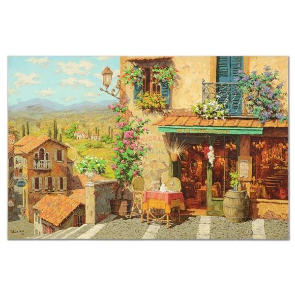 "Viktor Shvaiko, ""San Trovaro Taverna"" Hand Embellished Limited Edition on Canvas"