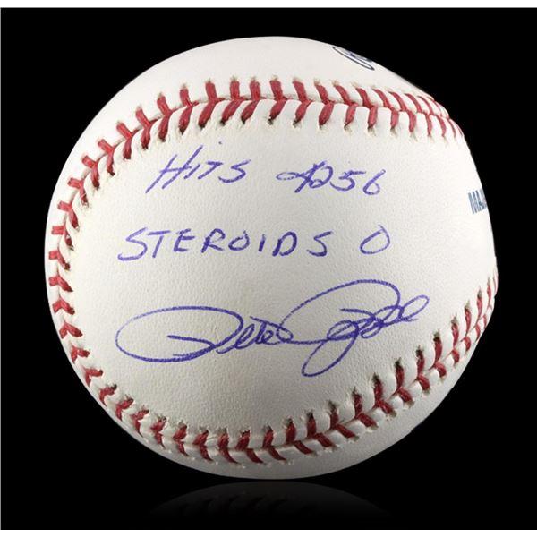 Autographed Pete Rose Baseball PSA Certified