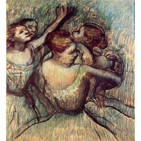 Edgar Degas - Four Dancers In Half Figure